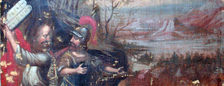 Restauration von Leinwandbildern in der Kirche in Brumby